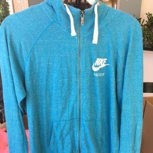 Blue Nike Zip Up Hoodie